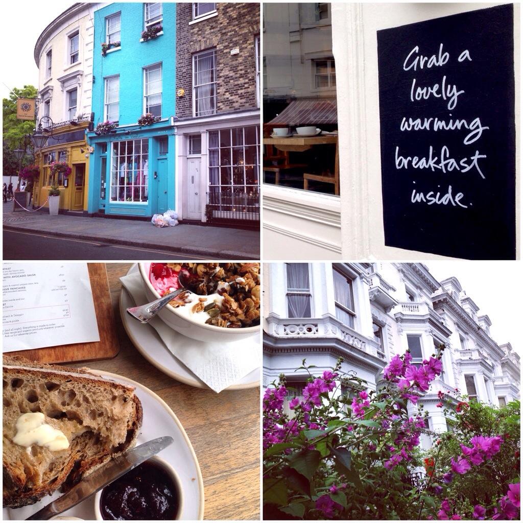 Frühstück in Notting Hill, London