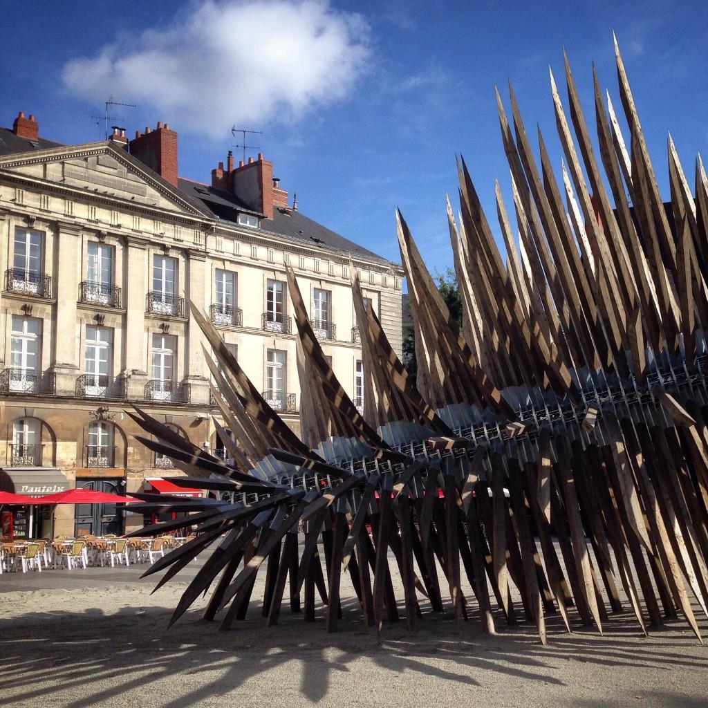 Kunst in der Altstadt von Nantes in Frankreich