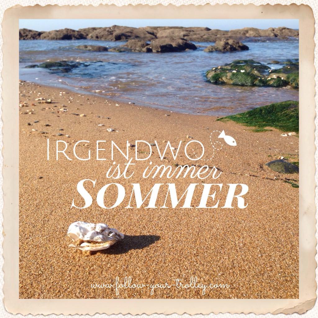 Spruch Weisheit Reisen: Irgendwo ist immer Sommer