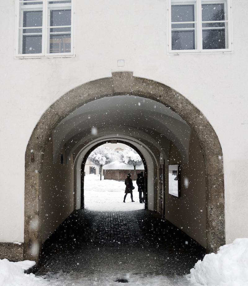 Durchgang Domplatz Residenzplatz Altstadt Salzburg