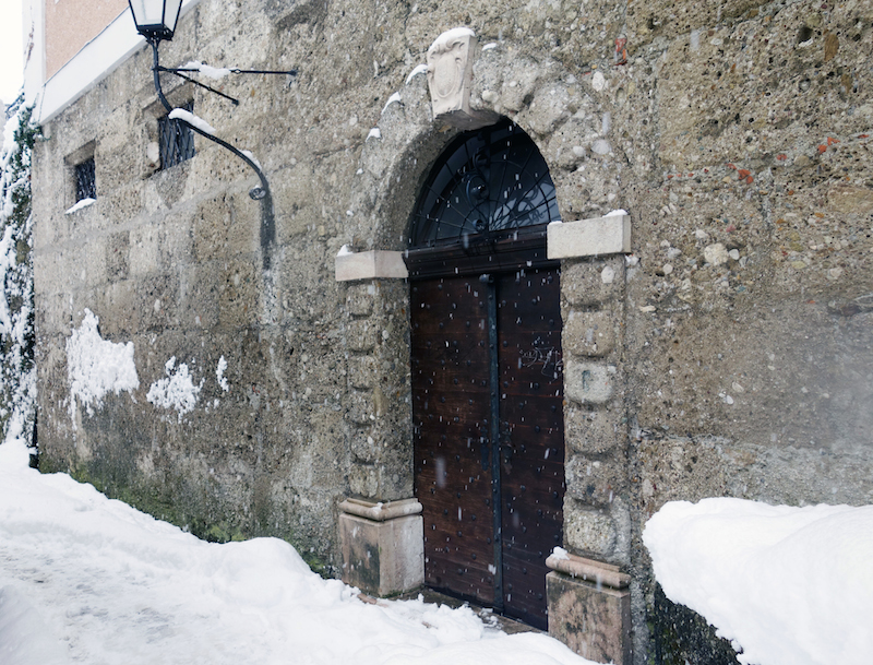 Tor Salzburg Altstadt Winter