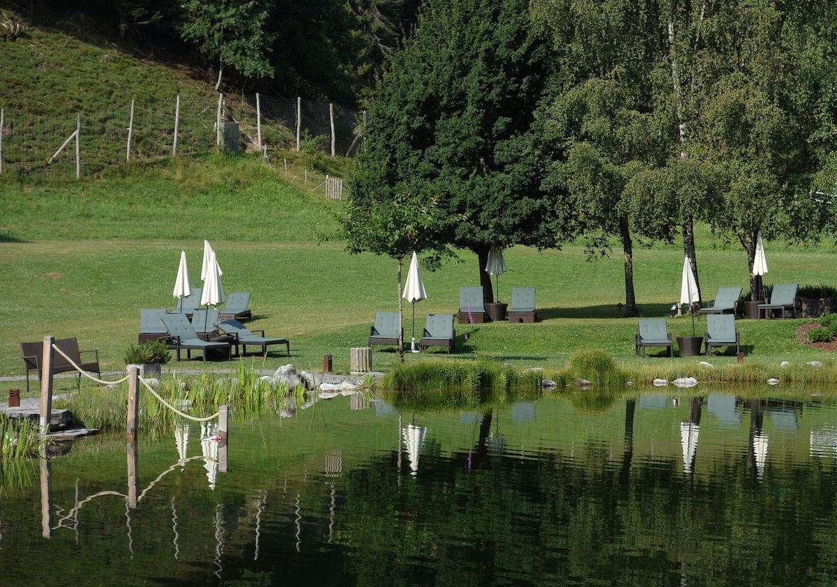 Sommer Leogang Garten Hotel Forsthofgut