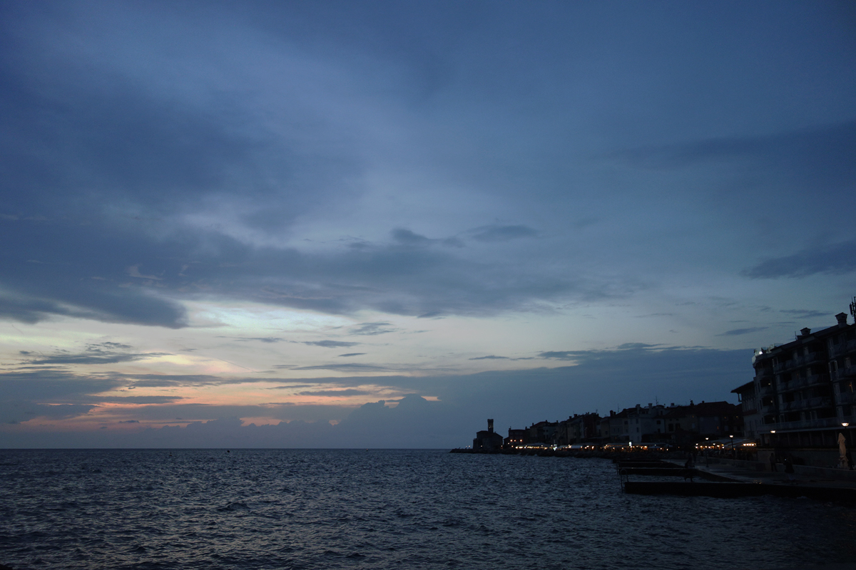 sunset adria piran slovenia