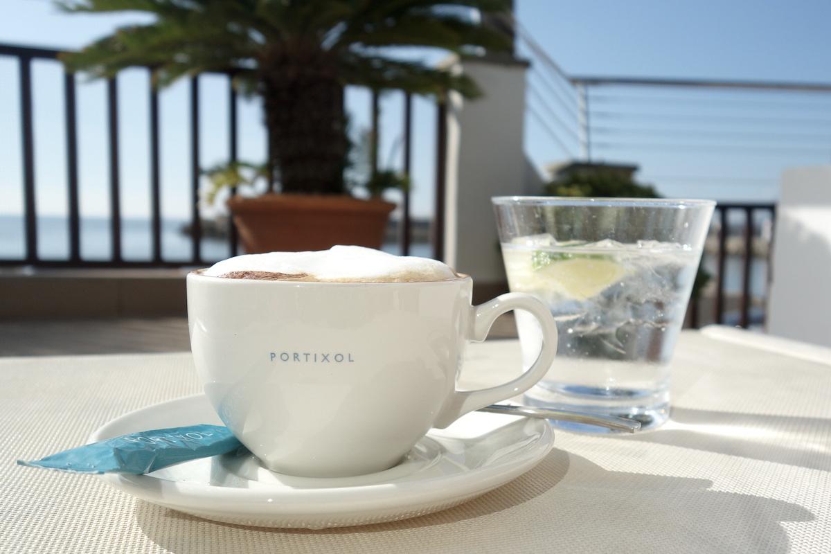 Kaffee trinken Hotel Portixol Mallorca