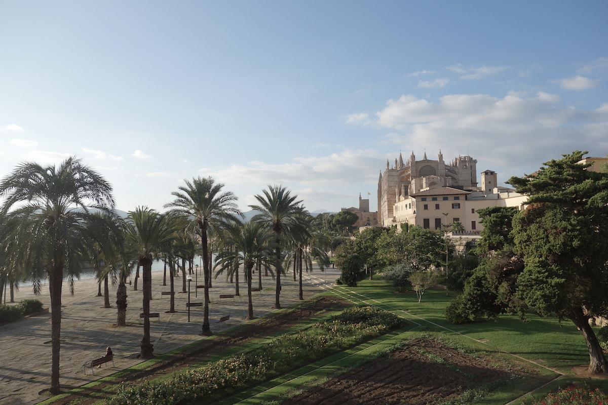 Park Kathedrale La Seu Palma Mallorca