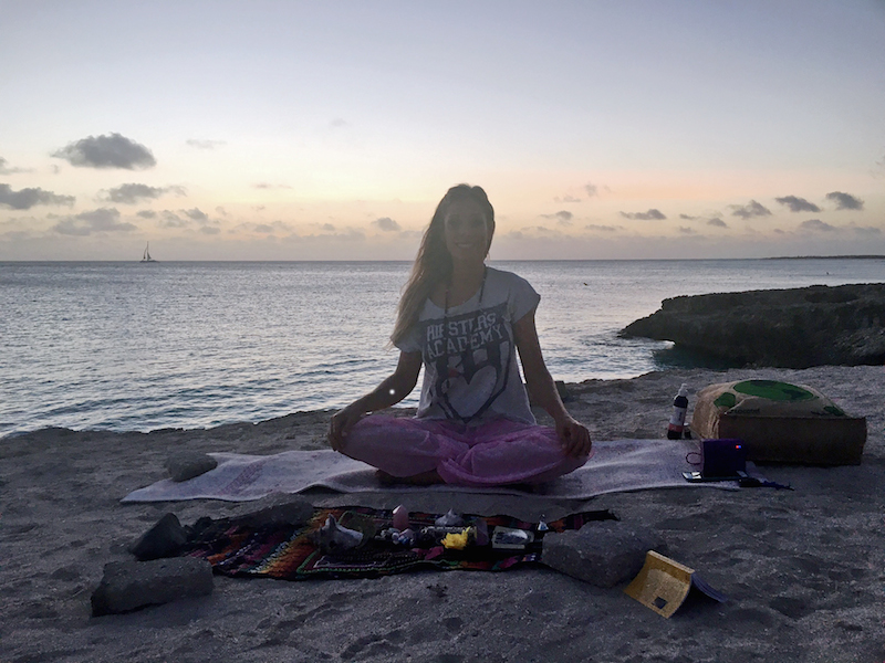 yoga aruba sunset meditation