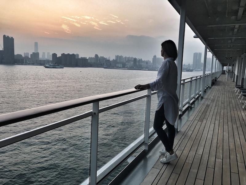sunset hongkong skyline kreuzfahrt