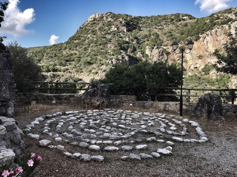 Steinspirale Gehmeditation Kreta