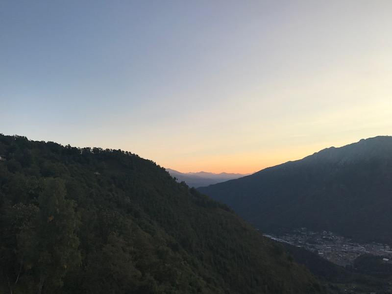 Ausblick Lago dOrta Italien