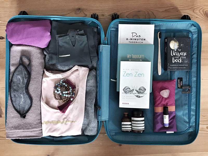 Kofferpacken für die Yogareise