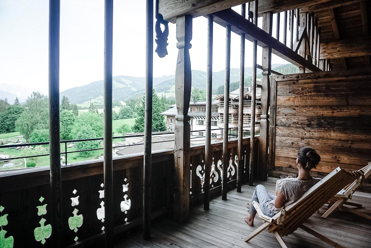 Yoga in den Bergen Leogang