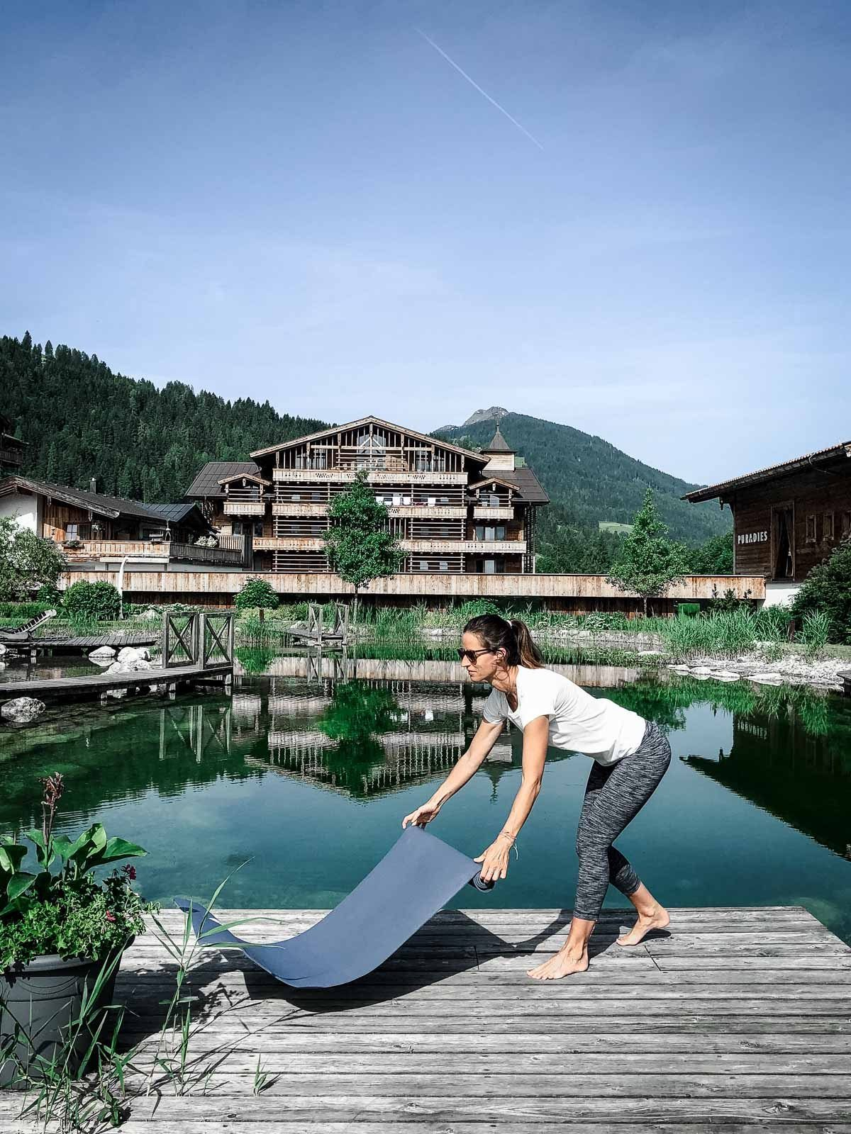 Yoga in den Bergen: Puradies Leogang