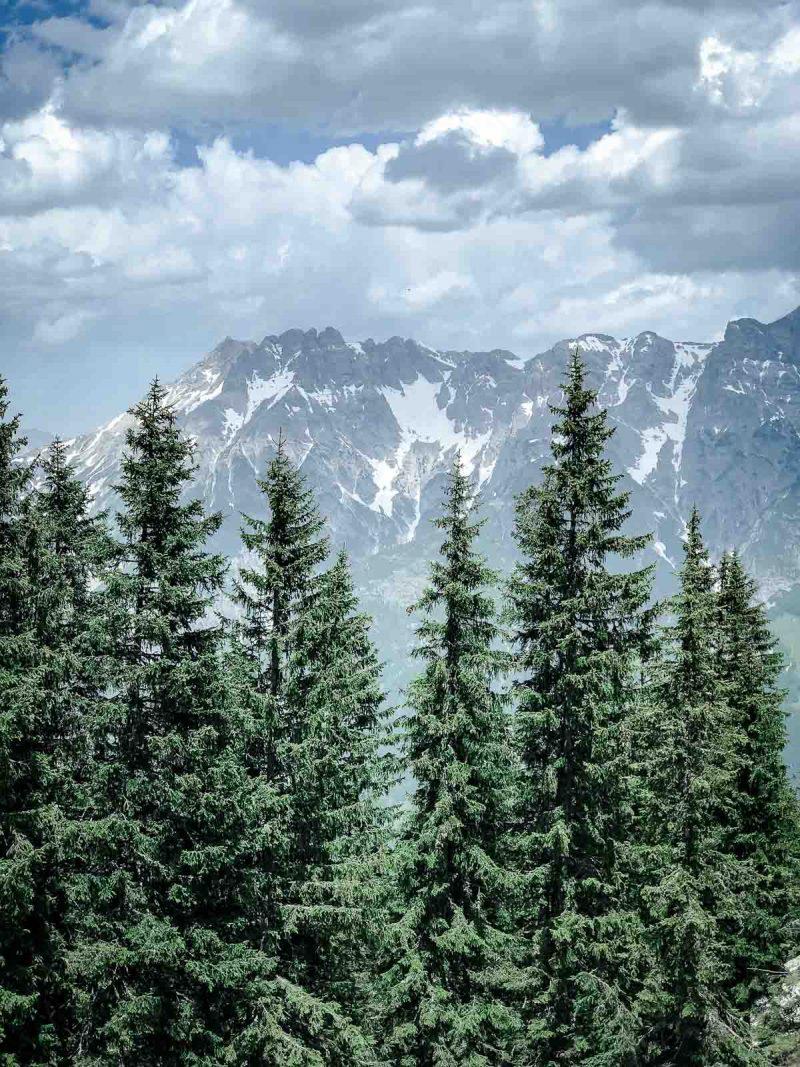 Yoga und perfekte Bergkulisse