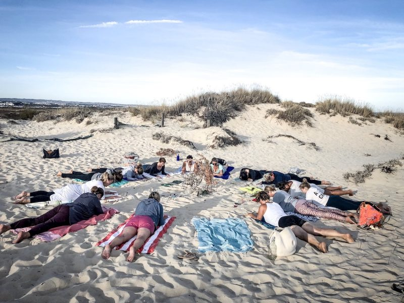 Beach Yin Yoga Algarve